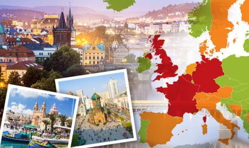 Safest countries in Europe  The European countries among world     safest countries in europe map