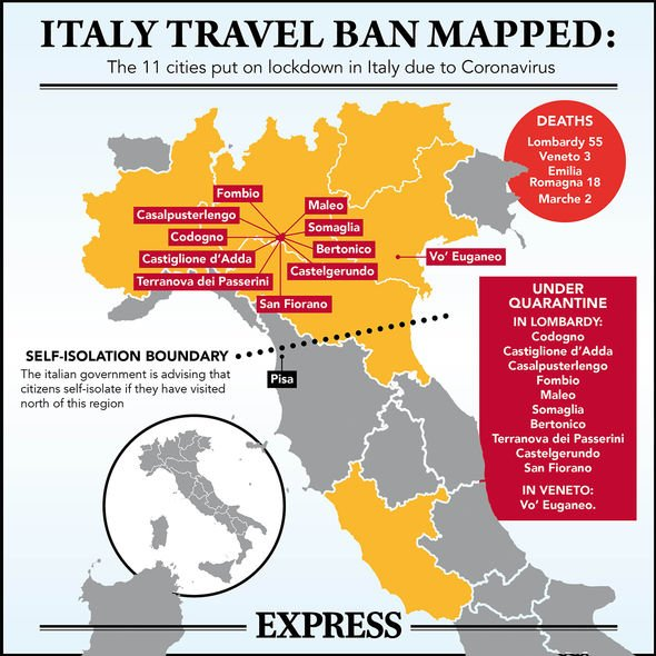 These are some of our mos. Coronavirus Italy MAP: The 11 towns Britons banned from ...