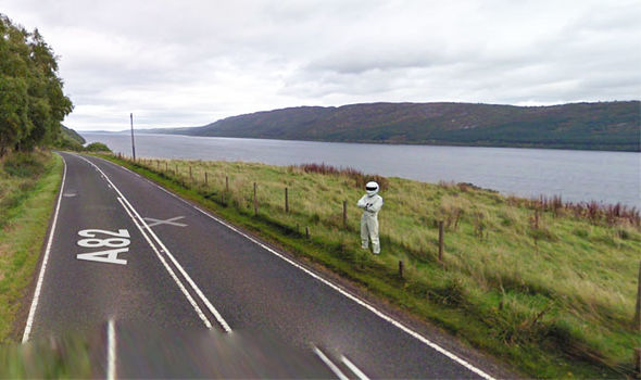 Google Maps Street View: The Stig was spotted by the Google vehicle near Loch Lomond