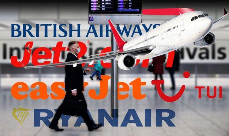 Flights: Latest TUI, BA, easyJet, Ryanair & Jet2 updates following lockdown 'roadmap'