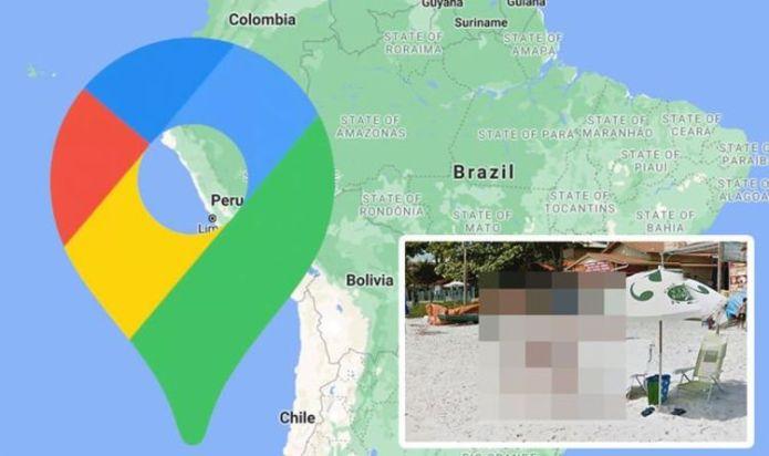 Google Maps Street View: Bikini-clad woman gets very intimate treatment from man on beach