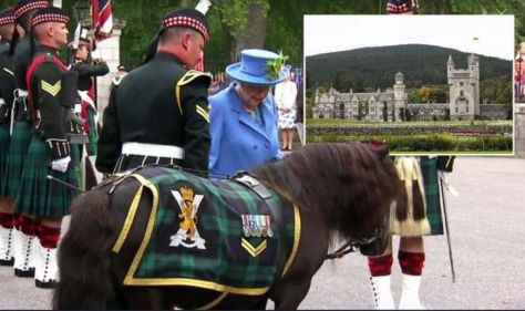 Queen Elizabeth begins yearly Balmoral holiday with 'pomp ceremony' including tiny pony