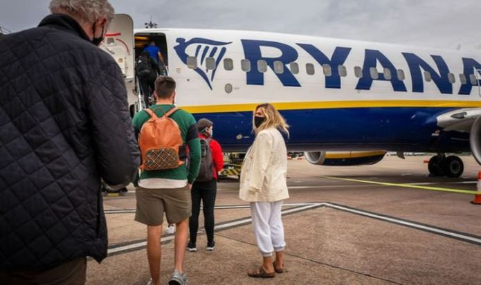 Ryanair will impose the use of face masks 'regardless' as Government eases rules