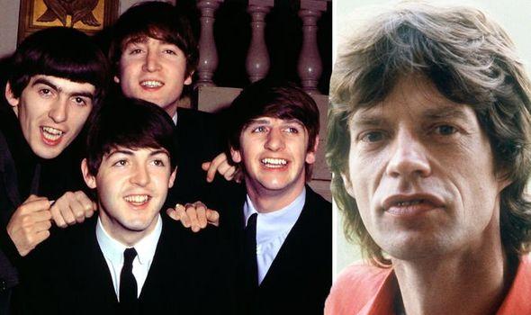 The Beatles mick jagger