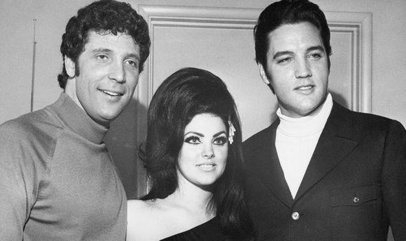 Tom Jones with Elvis and Priscilla Presley