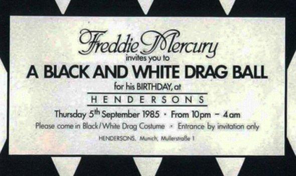 Freddie Mercury birthday party invitation