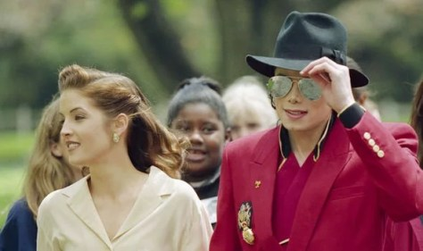 Michael Jackson and Lisa Marie Presley at Neverland