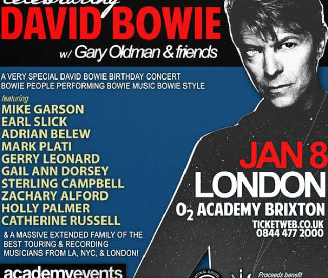 David Bowie Tribute Gig Poster