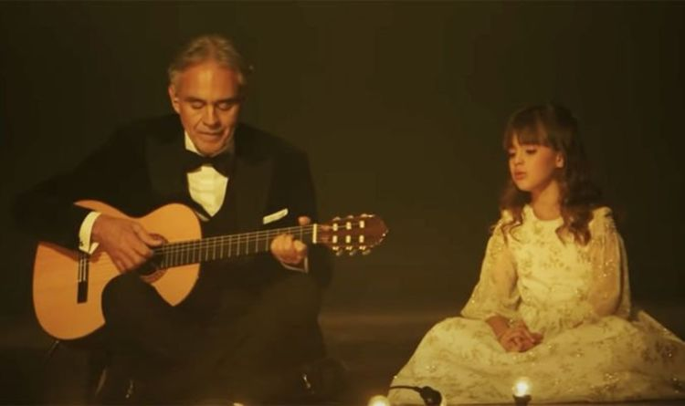 Andrea Bocelli teases live show with daughter Virginia Bocelli in family backstage picture