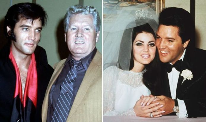 Elvis' dad Vernon Presley put a sign up outside his Graceland office to keep Priscilla out