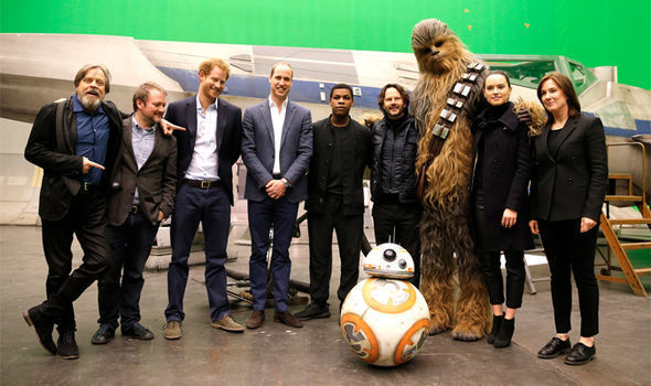 Star Wars 8 Prince Harry and William visit the set for cameo roles