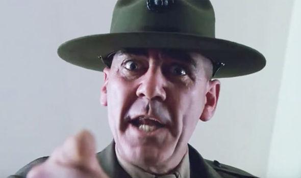 sergeant hartman pointing