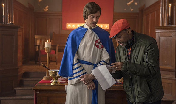 Topher Grace and Spike Lee