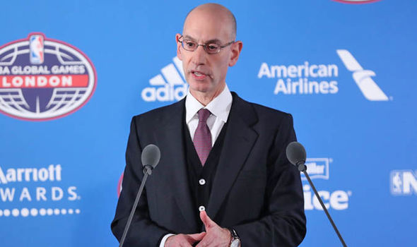 NBA Commissioner Adam Silver Global Games London Denver Nuggets v Indiana Pacers
