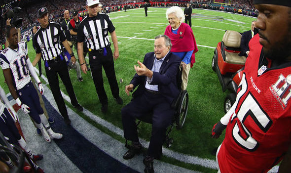 George H W Bush did the coin toss