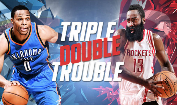Russell Westbrook and James Harden have been the triple-double kings this season