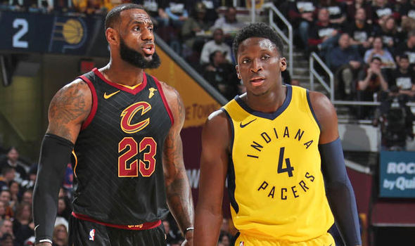Image result for victor oladipo playoff game vs the cavs picture