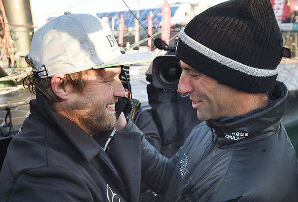Alex Thomson congratulated Vendee Globe winner Armel Le Cleac'h