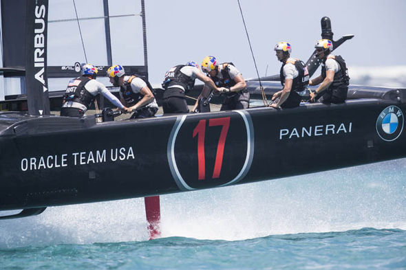 Oracle Team USA moved into the lead after winning two races