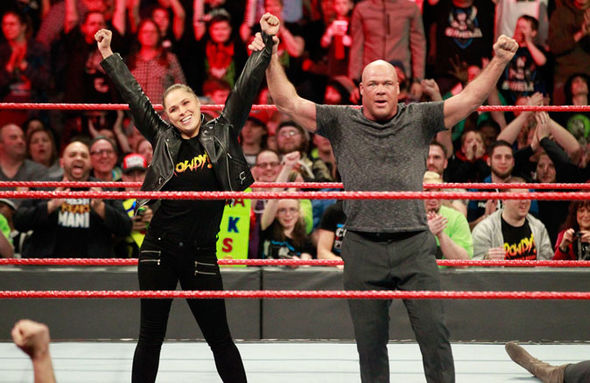 Ronda Rousey and Kurt Angle could main event WrestleMania