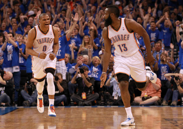 The two NBA stars were former team-mates at OKC