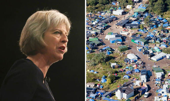 Theresa May and the Jungle migrant camp in Calais