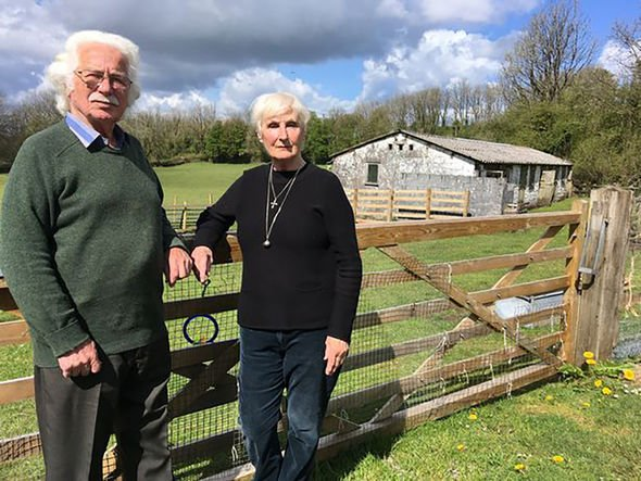 Patricia Breckman and Eddie Roberts at their smallholding