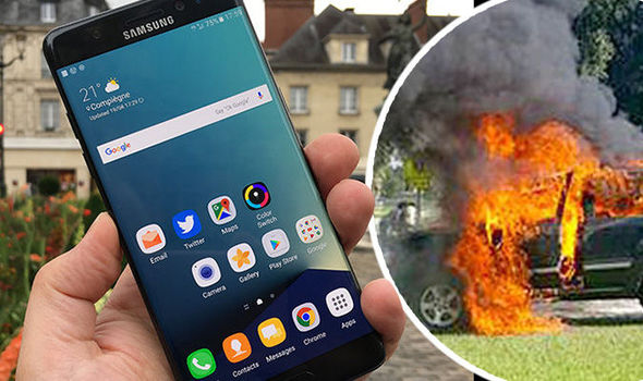 Samsung Note 7 fire