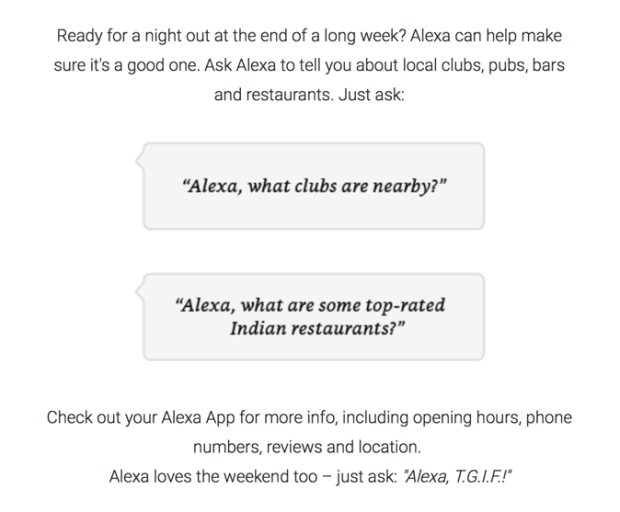Amazon has highlighted a number of features with Alexa that are ideal for the weekend