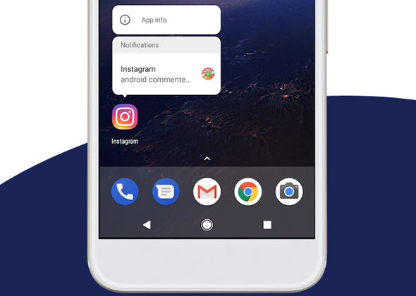 Notification Alerts now appear on the app icon, and can be dismissed from the apps' pop-up menu