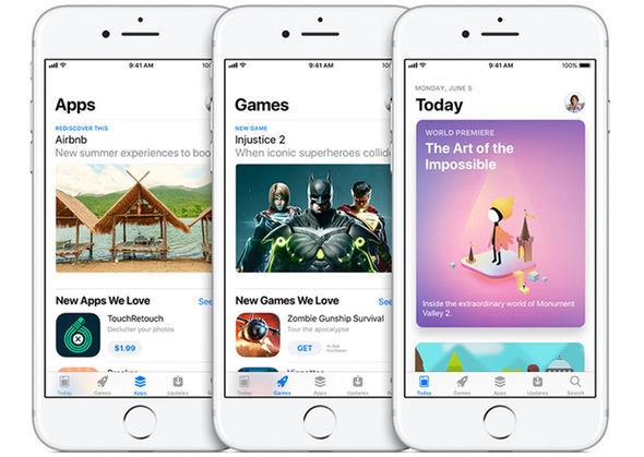 Apple has completely overhauled the App Store, which shares a design with Apple Music