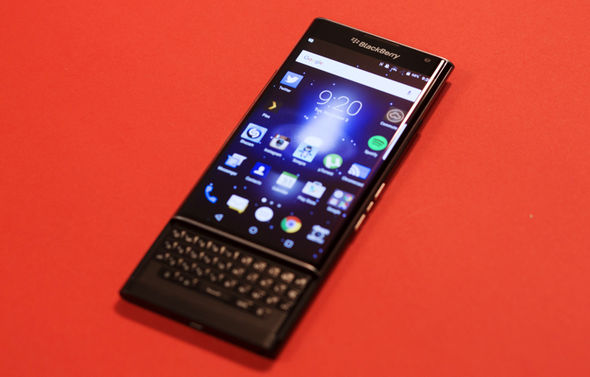 Unlike the Mercury, the BlackBerry Priv has a retractable physical keyboard