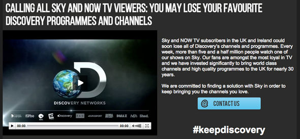 Discovery has launched a campaign hashtag for the boardroom negotiations