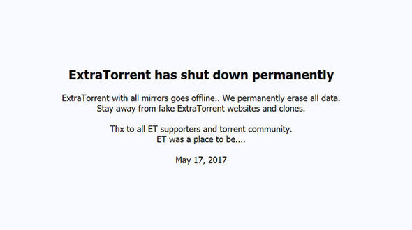 ExtraTorrent published the following statement on tis website, warning of copycat torrent sites