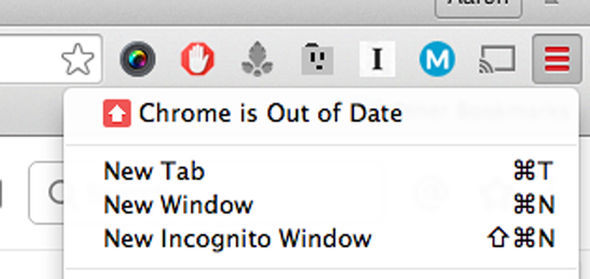 Chrome will let you know when you're due an update thanks to its colour-coded notification