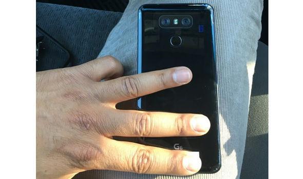 LG G6 leaked photo shiny black finish