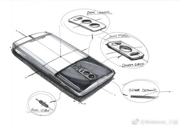 The rough sketches confirm some earlier rumours about the OnePlus 5, including the dual camera