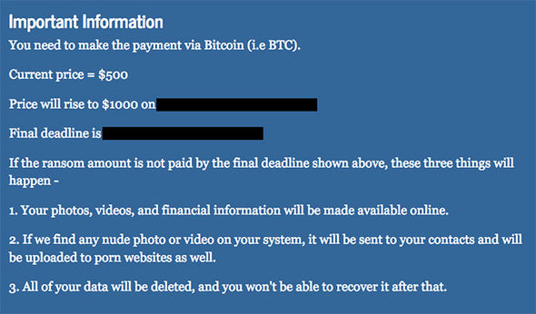 The ransomware threatens to embarrass its users by leaking personal data