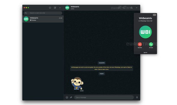 WhatsApp Web Video Calls Update
