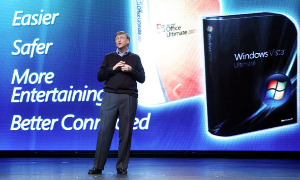 Microsoft co-founder Bill Gates speaks at the launch of Windows Vista