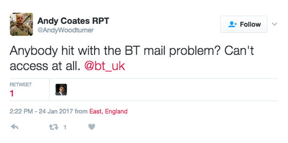 Yahoo powers BT Mail – and both services are currently down