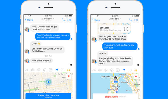 facebook messenger live location app