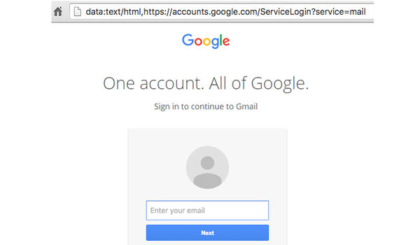 fake gmail login page email phishing scam