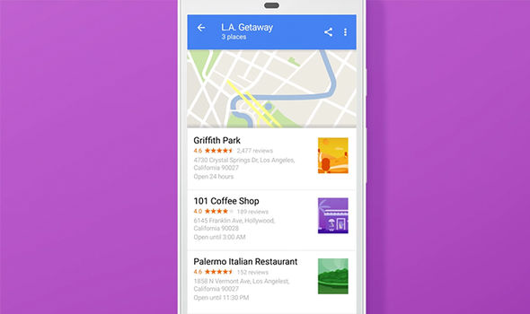 google maps update created lists