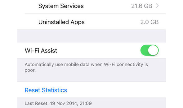 apple iphone wi fi assist feature settings