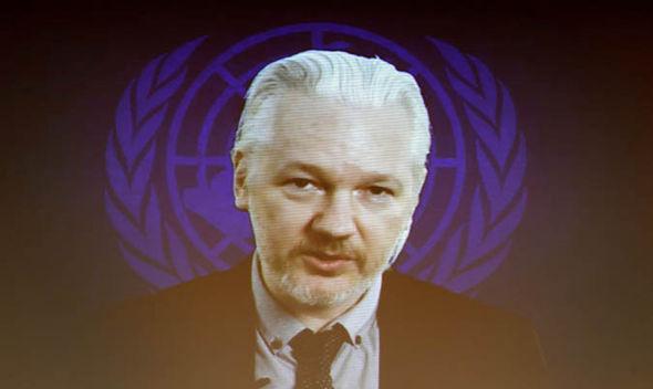Julian Assange speaking via web cam