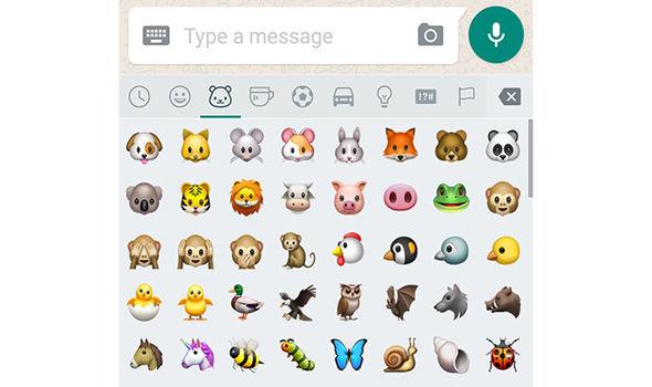 whatsapp new update emojis animals