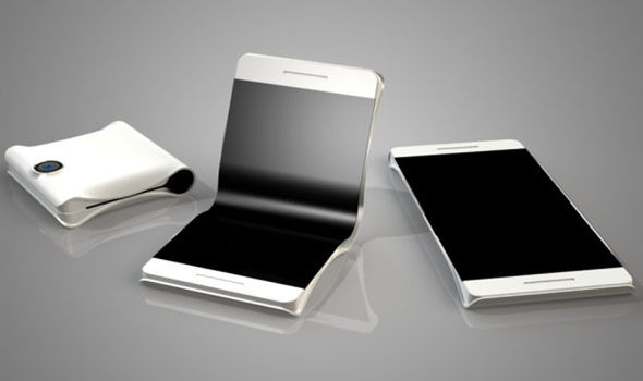 samsung galaxy x folding smartphone display