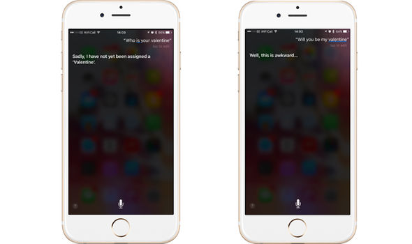siri iphone answers valentines questions