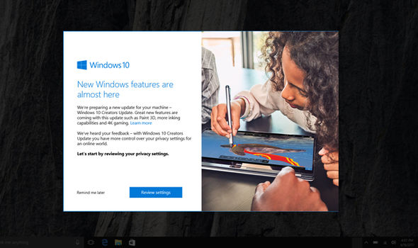windows 10 creators update upgrade now window